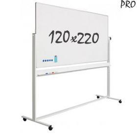 verrijdbaar whiteboard emaille 120 x 220 cm