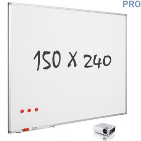 mat whiteboard projectiebord emaille 150 x 240 cm