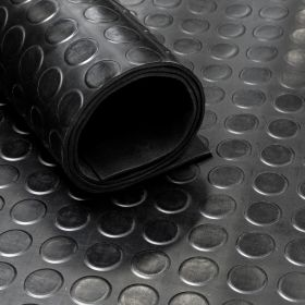 Rubber Flooring (roll) - Circle - Width: 120 cm Thickness: 3 mm
