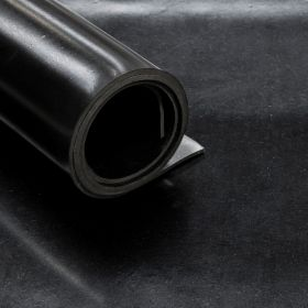 Rubber Flooring (roll) - Smooth - Width: 140 cm - Thickness: 3 mm