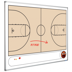 Printed Whiteboard - Basketball Court - 120 x 90 cm