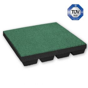 Rubber Tile - 50 x 50 cm - 55 mm - Green