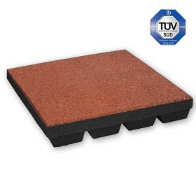 Rubber Tile - 50 x 50 cm - 55 mm - Red