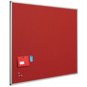 Pinwand aus Korklinoleum - 45x60 cm - Rot