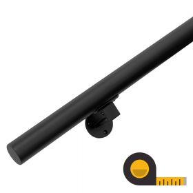 Handrail - Made to Order - Black (+ Wall Brackets)