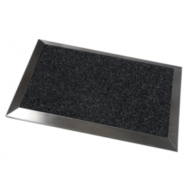 Ribbed Doormat (Stainless Steel Frame) - 70 x 50 cm