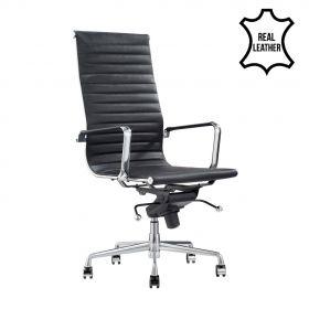 Bureaustoel Madrid Zwart - 100% leder