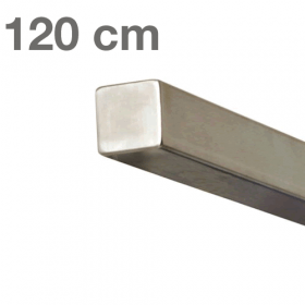Square Handrail - Brushed Stainless Steel - 120 cm
