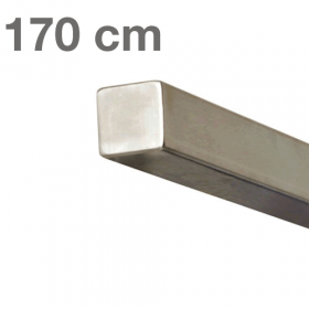 Square Handrail - Brushed Stainless Steel - 170 cm