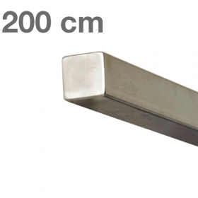 Square Handrail - Brushed Stainless Steel - 200 cm