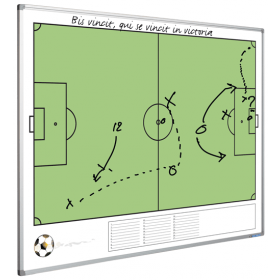 Printed Whiteboard - Football Pitch - 120 x 90 cm
